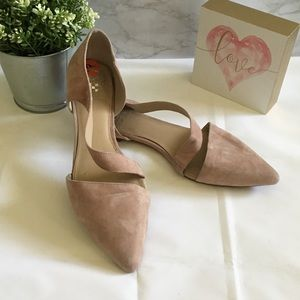 Vince Camuto blush suede flats
